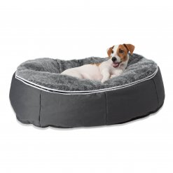 Small medium pet lounger with jack russel