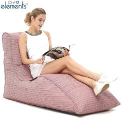 raspberry polo avatar lounger bean bag with model 3