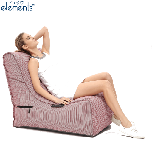 raspberry polo evolution sofa with model