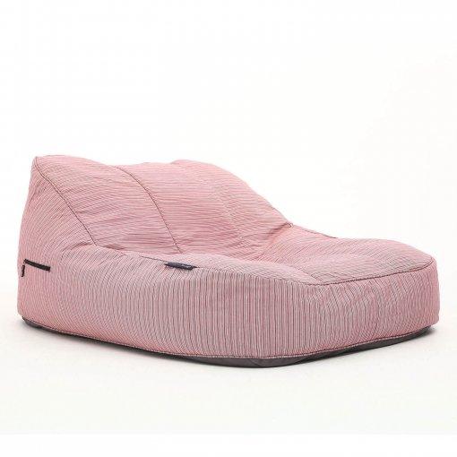 raspberry satellite twin bean bag lounger