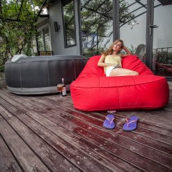 rising sun satellite twin bean bag for outdoor
