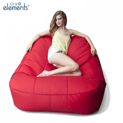 rising sun satellite twin bean bag with model