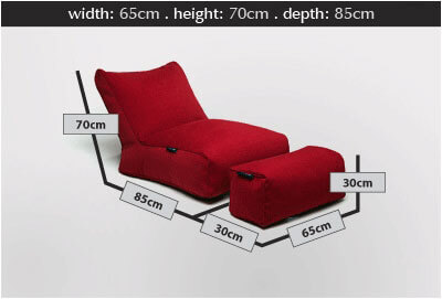 Ambient Lounge Roma sofa set Dimensions