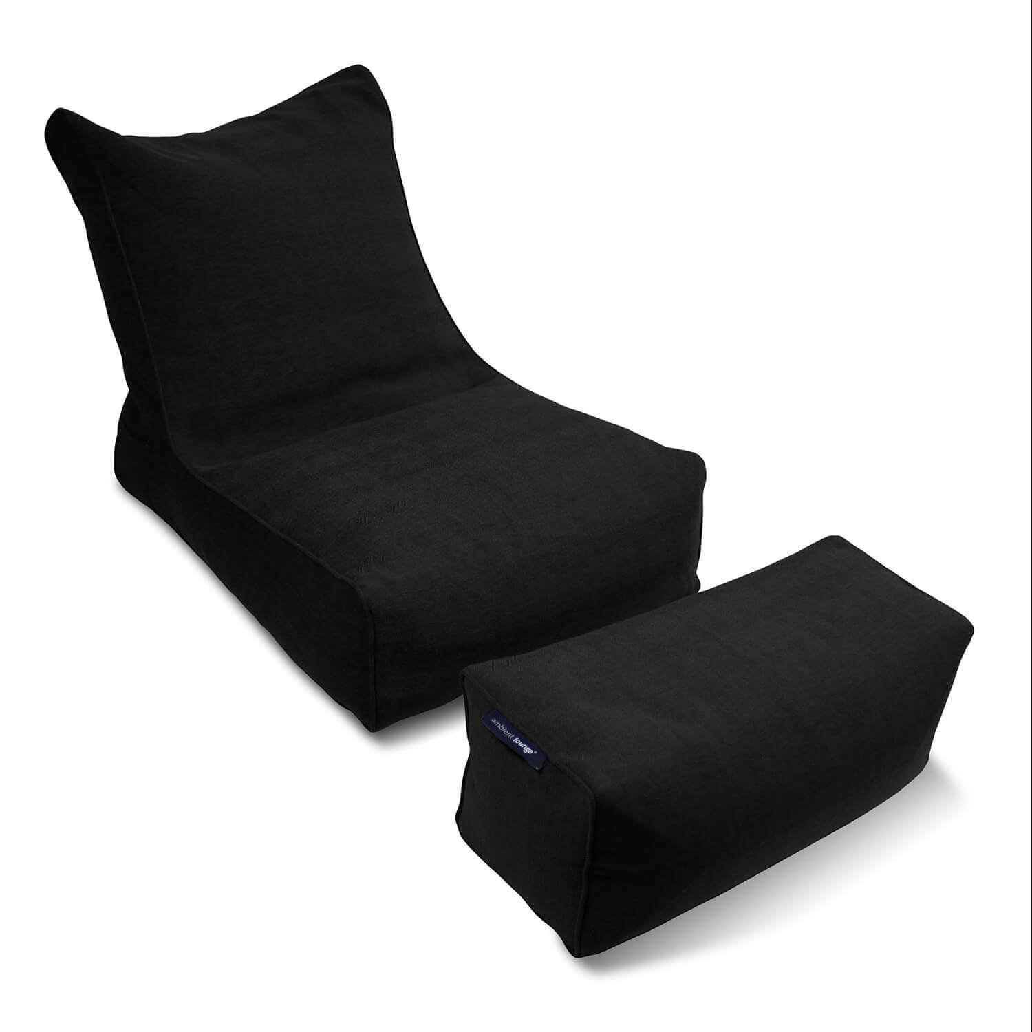 Ambient Lounge Roma Sofa - Special buy bean bag set Nero