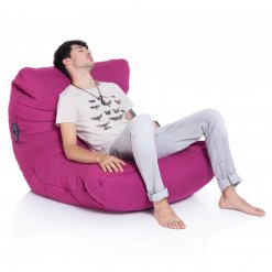 sakura pink acoustic bean bag with model