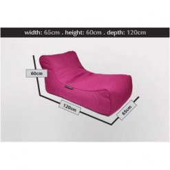 sakura pink studio lounger bean bag dimension