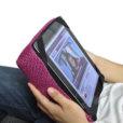 sakura pink tech pillow bean bag with ipad