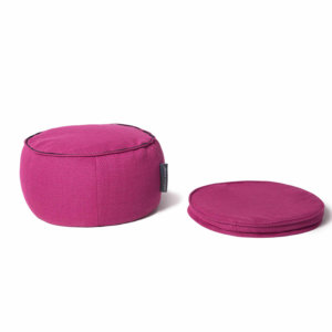 Sakura pink wing ottoman bean bag top removed