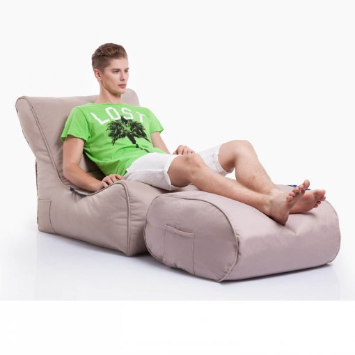sandstorm evolution sofa bean bag with ottoman