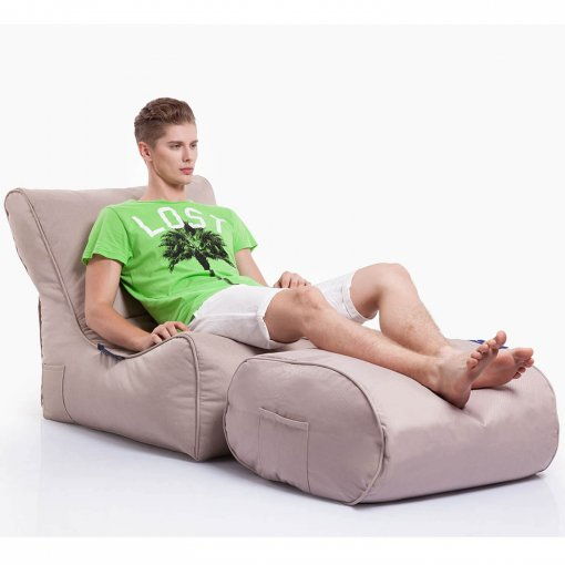sandstorm ottoman bean bag with evolution lounger