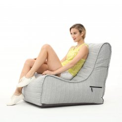 silverline evolution bean bag with model side view