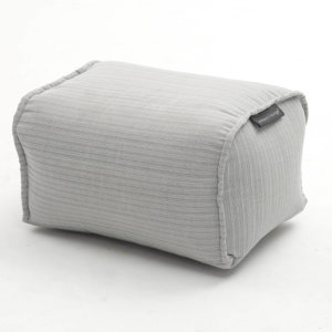 silverline ottoman bean bag side view