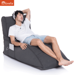 sunbrella black rock avatar bean bag with model