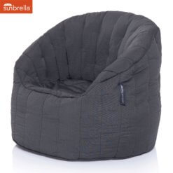 sunbrella black rock butterfly sofa bean bag