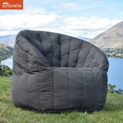 sunbrella black rock butterfly sofa bean bag outdoor shot 1
