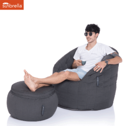 sunbrella black rock wing ottoman bean bag with matching butterfly sofa