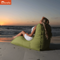 sunbrella limespa avatar bean bag sunset shot 2