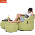 sunbrella limespa wing ottoman bean bag with matching butterfly sofa & versa table