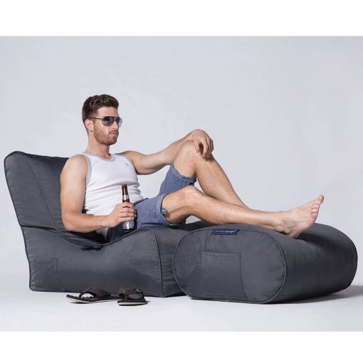 supernova ottoman bean bag with evolution lounger