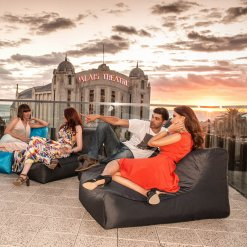 supernova studio lounger bean bag on roof top