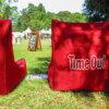 toro red evolution lounger bean bag customized