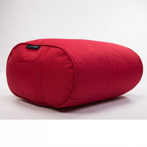 toro red ottoman bean bag side view