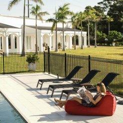 toro red studio lounger bean bag for outdoor