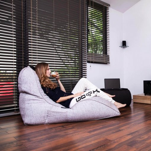 tundra spring avatar lounger bean bag side view