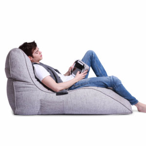 tundra spring avatar lounger bean bag with model