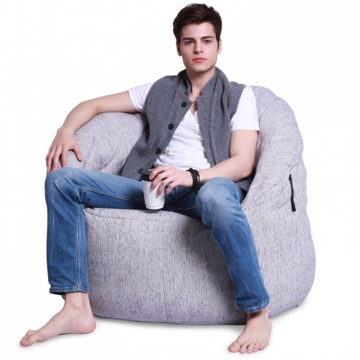 tundra spring butterfly sofa bean bag with model