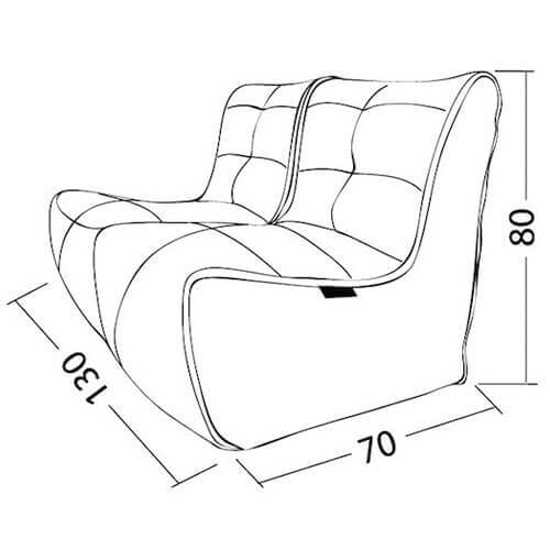 Ambient Lounge Twin Couch Dimensions