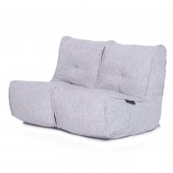 Twin couch bean bag sofa in tundra spring fabric