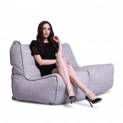 Twin couch bean bag sofa in tundra spring fabric with model 2