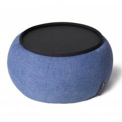 Versa table in blue jazz fabric