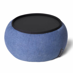 Versa table in blue jazz fabric