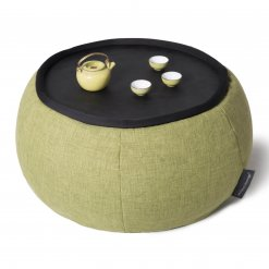 Versa bean filled table in citrus lime with teaset