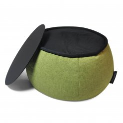 Versa table designer bean bag table in citrus lime with top removed