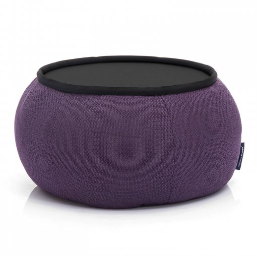 Versa table in Aubergine Dream fabric front view