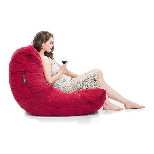 wildberry deluxe acoustic bean bag side view