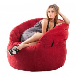 wildberry deluxe butterfly sofa bean bag side view
