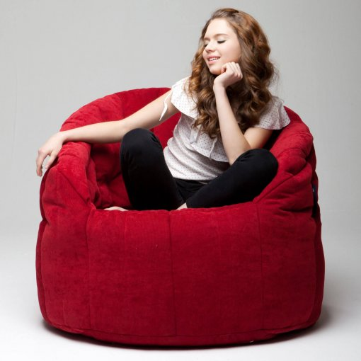 wildberry deluxe butterfly sofa bean bag front view