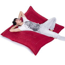 wildberry deluxe zen lounger bean bag with model 1