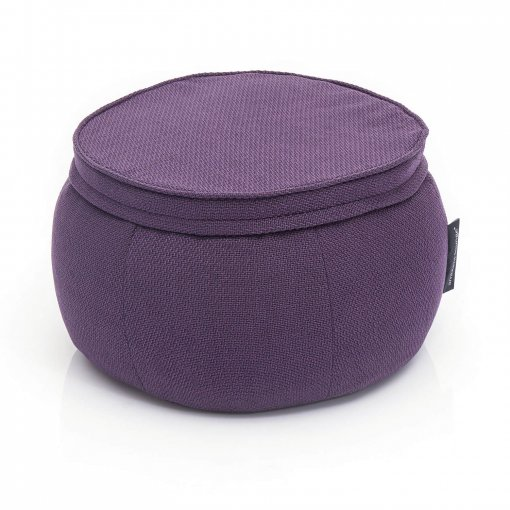 Wing Ottoman in Aubergine Dream 34 view