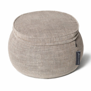 Wing ottoman in Eco Weave 34 view