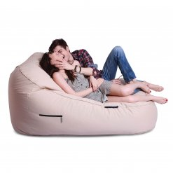 yacht club cream satellite twin lounger