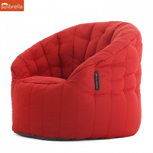 Butterfly Sofa Crimson Vibe Luxury Ambient Lounge Sunbrella Bean Bags