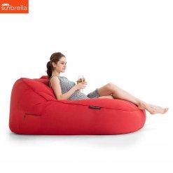 Satellite Twin Sofa Crimson Vibe Luxury Ambient Lounge Bean Bags