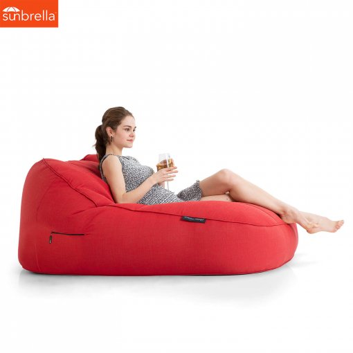 Satellite Twin Sofa Crimson Vibe Luxury Ambient Lounge Bean Bags