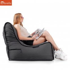 Evolution Sofa Black Rock Sunbrella Luxury Ambient Lounge Bean Bags