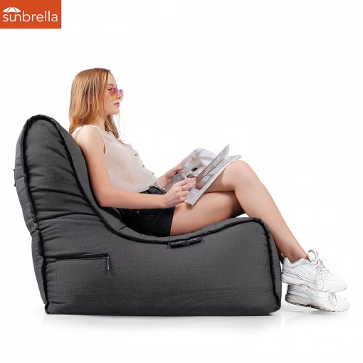Evolution Sofa Black Rock Sunbrella Luxury Ambient Lounge Bean Bags